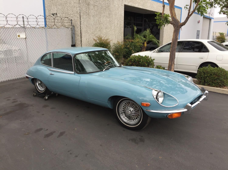 Car Air Conditioning Repair >> Kurt Tanner Motorcars » Blog Archive » 1970 JAGUAR E-TYPE XKE SERIES 2, 2+2 COUPE. LIGHT BLUE ...