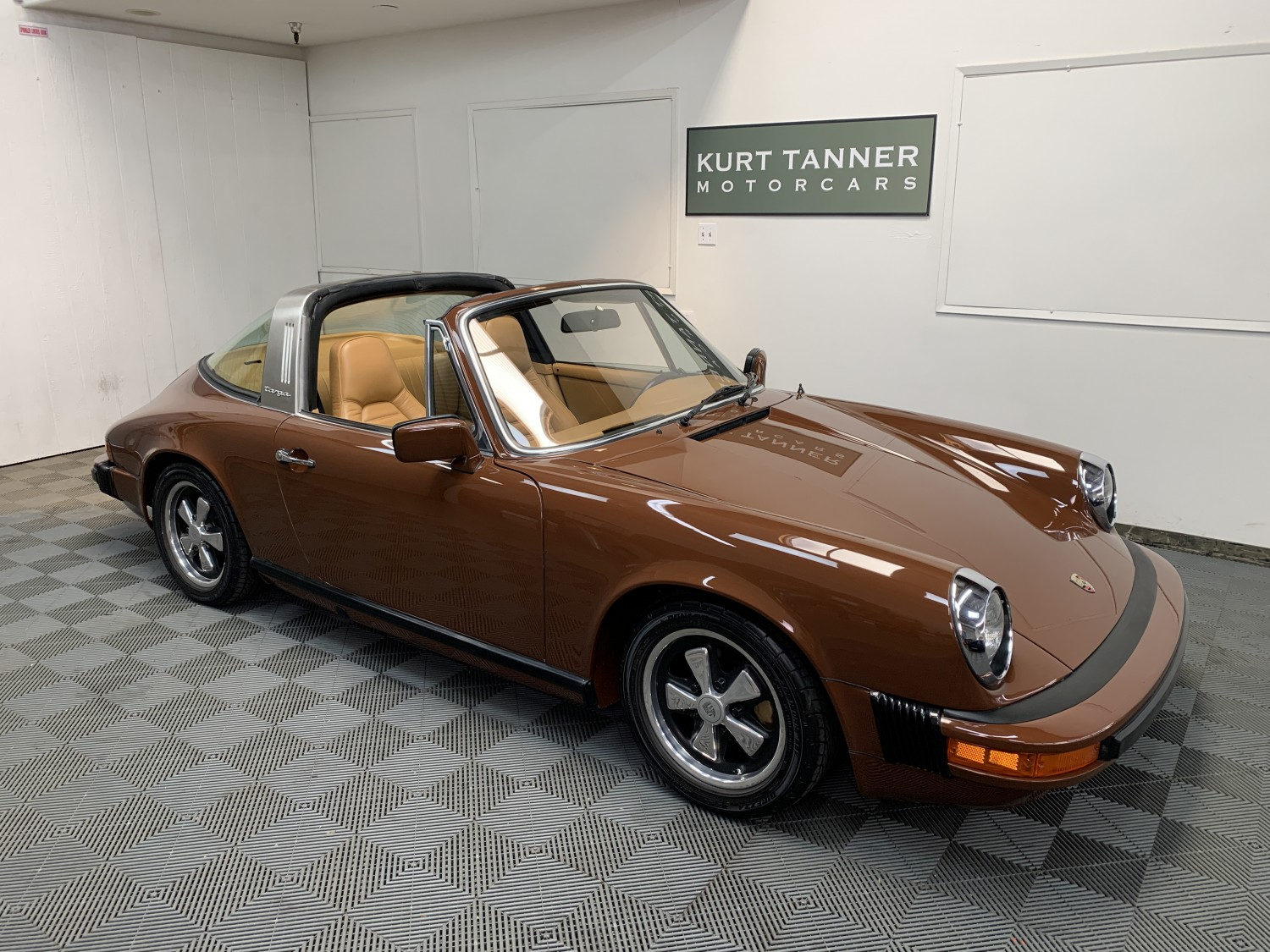 1976 PORSCHE 911 S TARGA. BITTER CHOCOLATE WITH BEIGE LEATHER TRIM, BLACK TARGA TOP. 2.7 LITERS, 5-SPEED, FUCHS ALLOYS, FITTED AIR CONDITIONING. SUPERB, QUALITY, TOTAL RESTORATION COMPLETED ONLY 5 YEARS AGO WITH ONLY 1331 MILES SINCE!