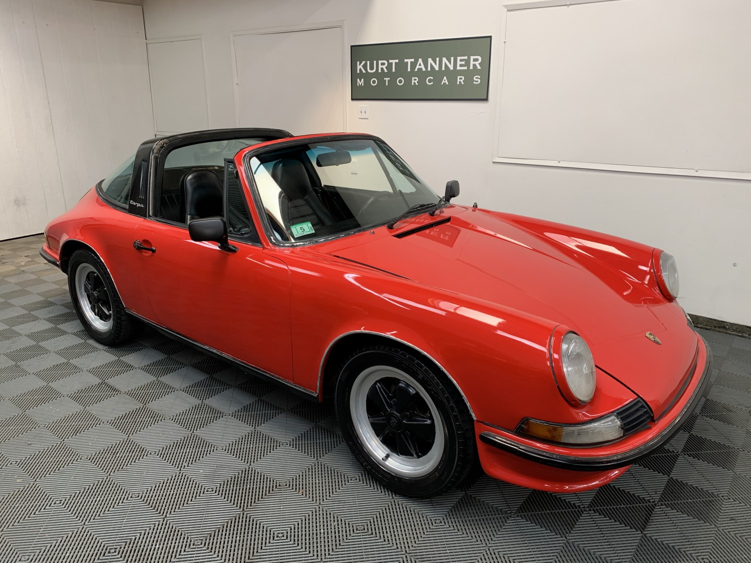 1971 PORSCHE 911 T TARGA. GUARDS RED WITH BLACK TRIM. 5-SPEED. CORRECT ENGINE. NICE, SOLID, RUNNING AND DRIVING CAR FOR EASY IMPROVEMENT. ORIGINAL COLOR CODE 2310-G TANGERINE. CHASSIS NUMBER 9111111933, ENGINE NUMBER 6116657. SHOWS 74,687 MILES.