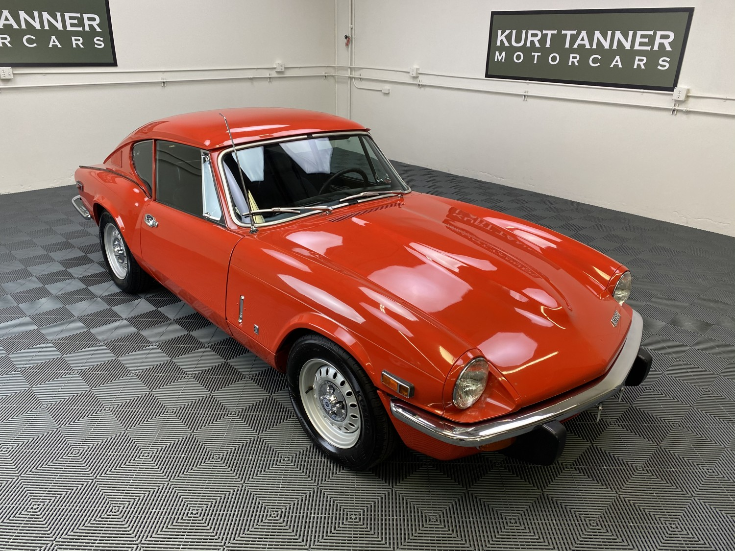 1973 TRIUMPH GT-6 SPORTS COUPE. 41,046 ORIGINAL MILES. FACTORY ORIGINAL PAINT. PIMENTO RED WITH BLACK TRIM. 4-SPEED, DISC WHEELS. MECHANICAL RECOMMISSIONING JUST COMPLETED. SUPERB ORIGINAL.